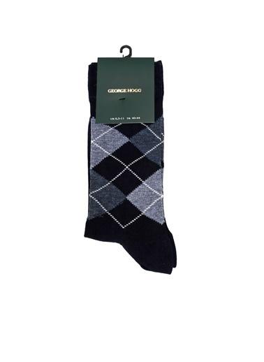 George Hogg George Hogg Ekoseli Erkek Çorap Lacivert